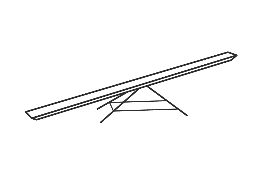 Rettungshundestaffel Geräte Illustration Wippe