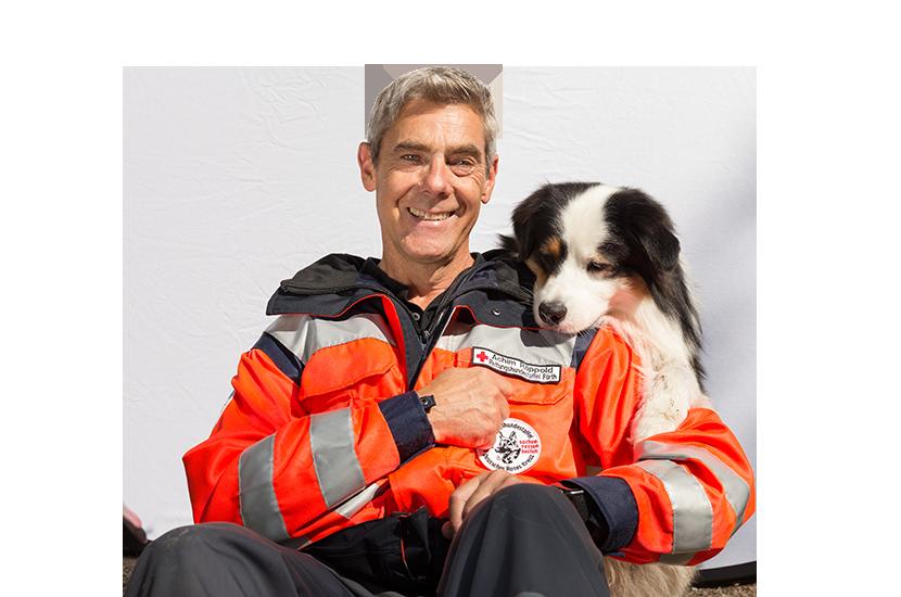 Achim und Luke der Rettungshundestaffel Fürth
